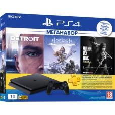 Sony PlayStation 4 Slim 1TB Black Horizon Zero Dawn CE + Detroit + The Last of Us
